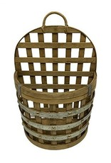Barrel Bamboo Wall Basket 10243