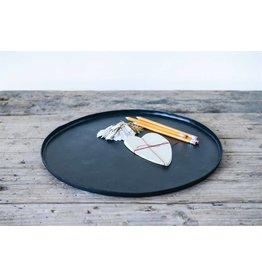 "16"" Round Decorative Hand-Forged Iron Tray DA8990"