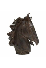 Oiled Bronze Horse Head