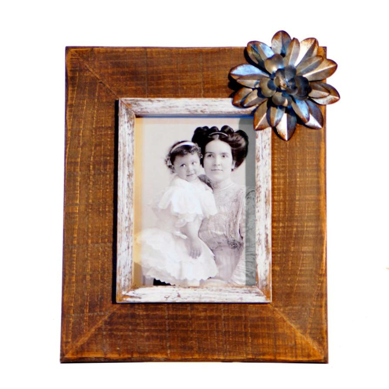 Picture Frame with Metal Flower