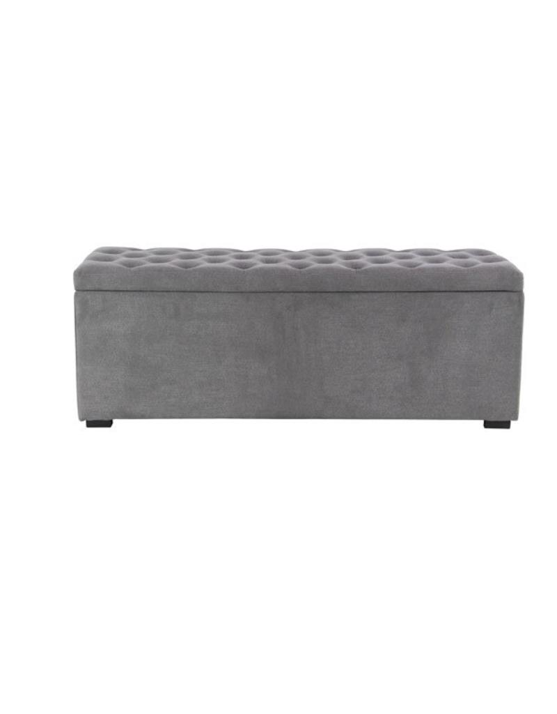 Grey Fabric Storage Bench