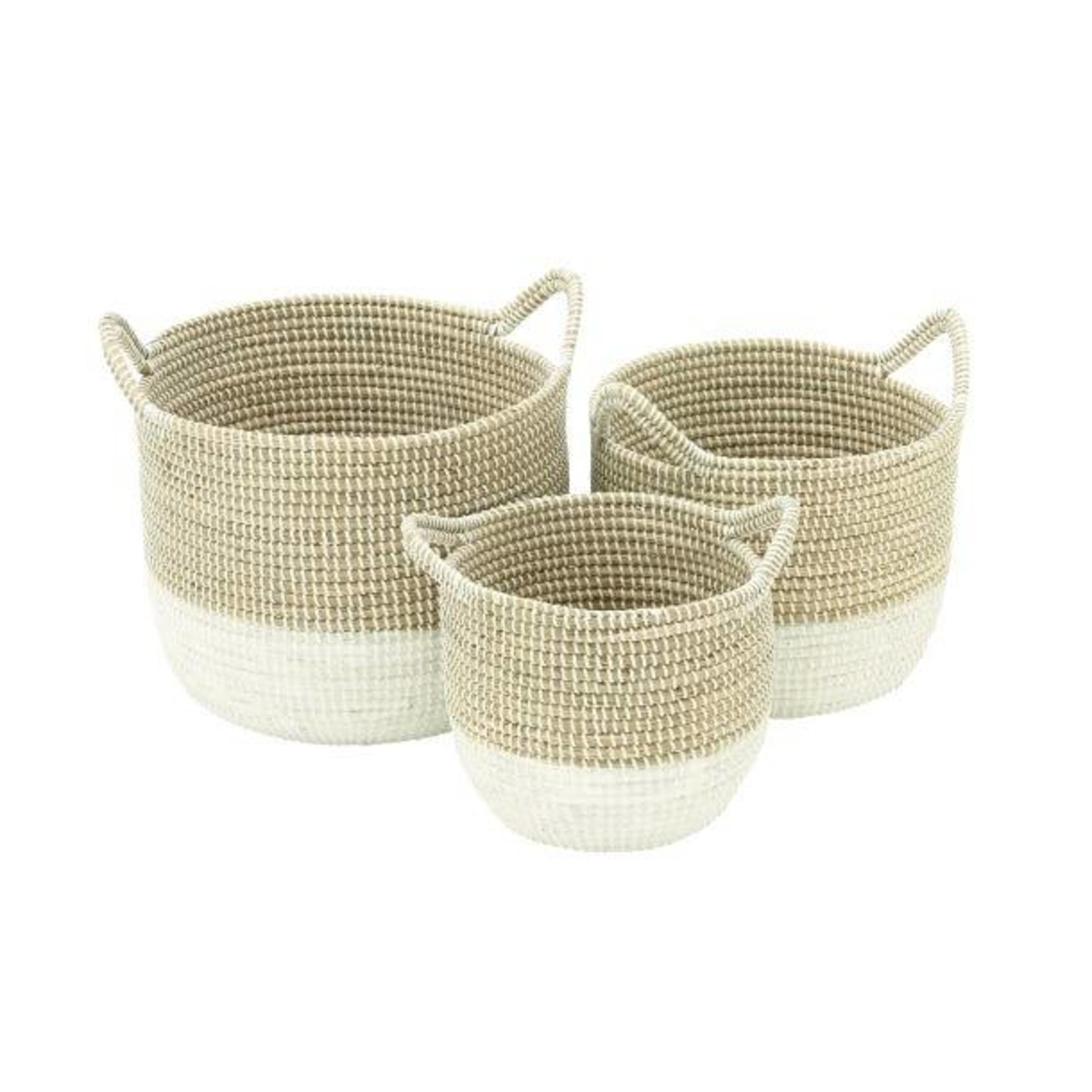 Seagrass Basket with White Bottom 41145