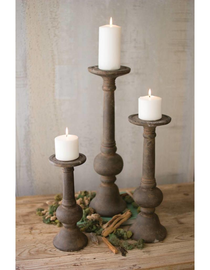 Large Rustic Cement Candle Holder Cdl2081 Dirt Road Rustics