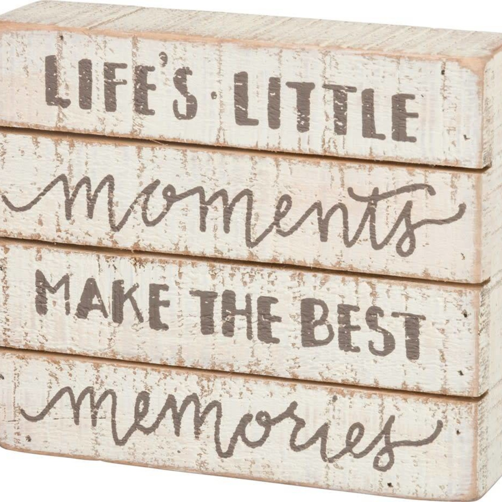 Slat Box Sign - Little Moments Make Best Memories 34351