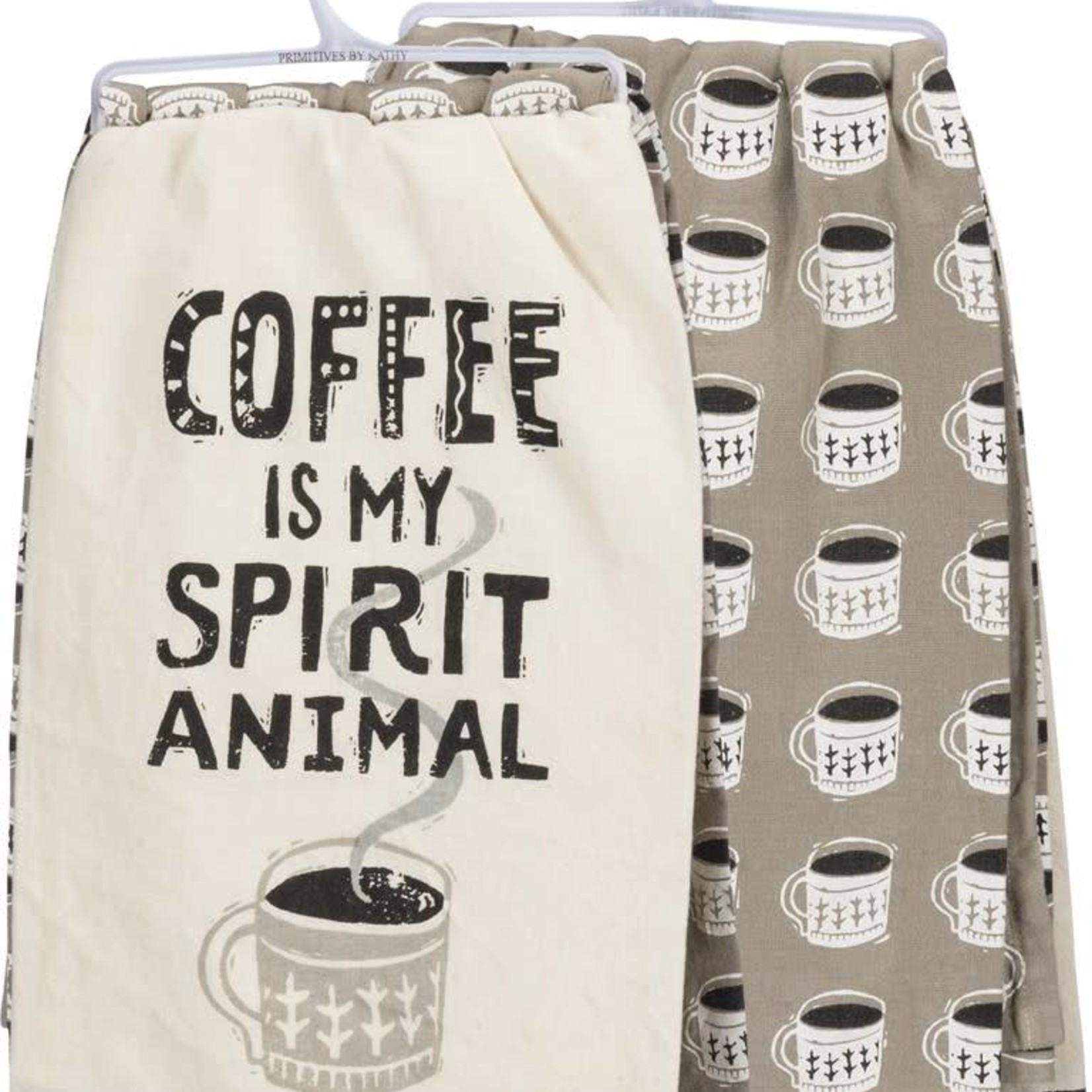 Coffee Is My Spirit Animal Dish Towel Set 35052