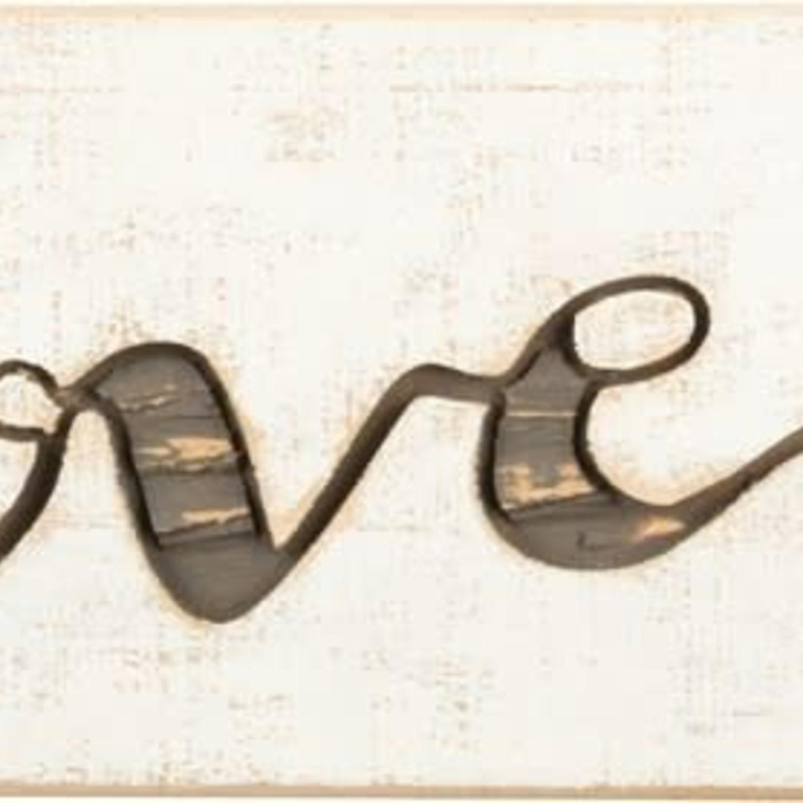 Carved Sign - I Love Us 36799