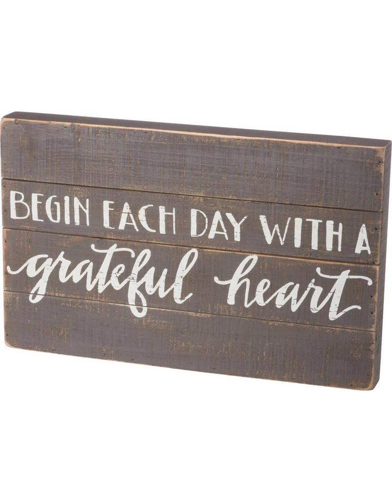 Begin Each Day With Grateful Heart 37201