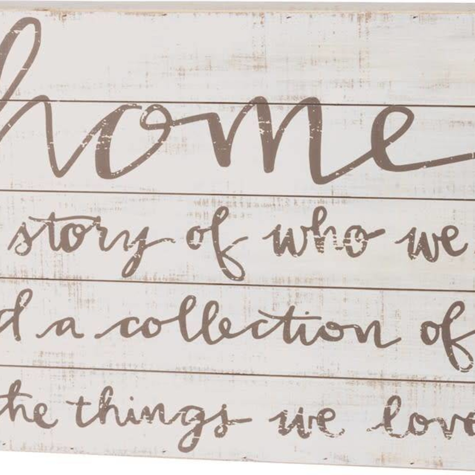Slat Box Sign - Home The Story Of Who We Are 37204