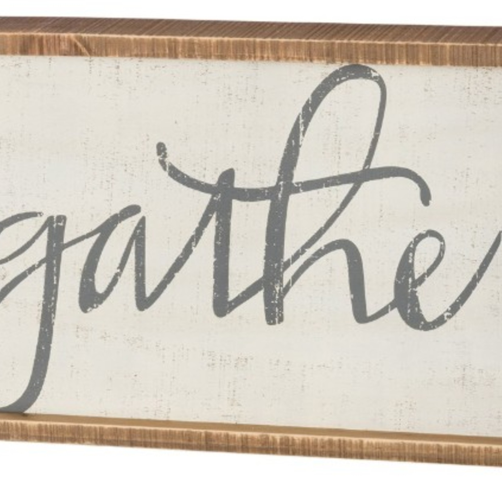 Inset Box Sign - Gather 37621
