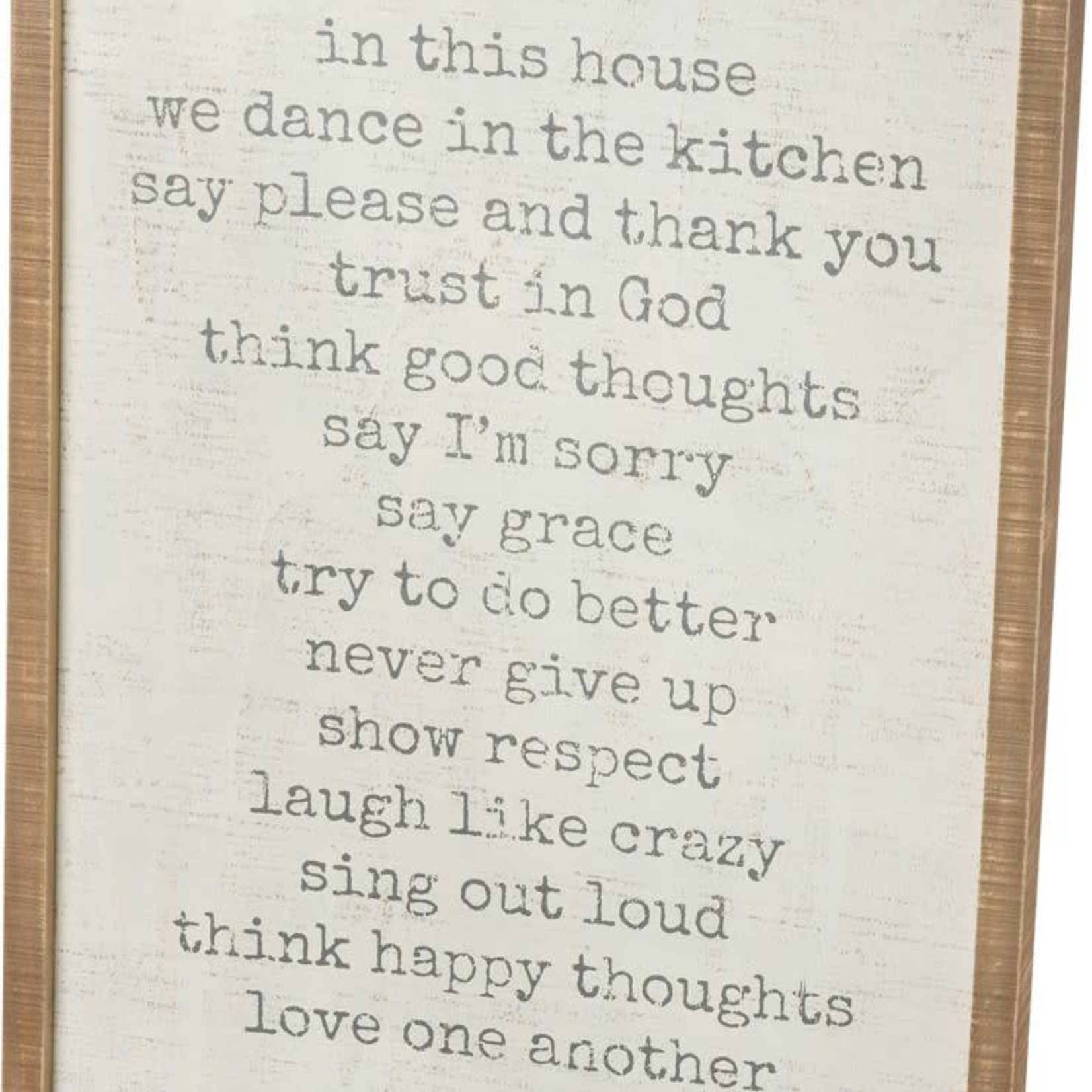 Inset Box Sign - In This House We Trust In God 38488