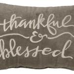 Thankful & Blessed Velvet Pillow