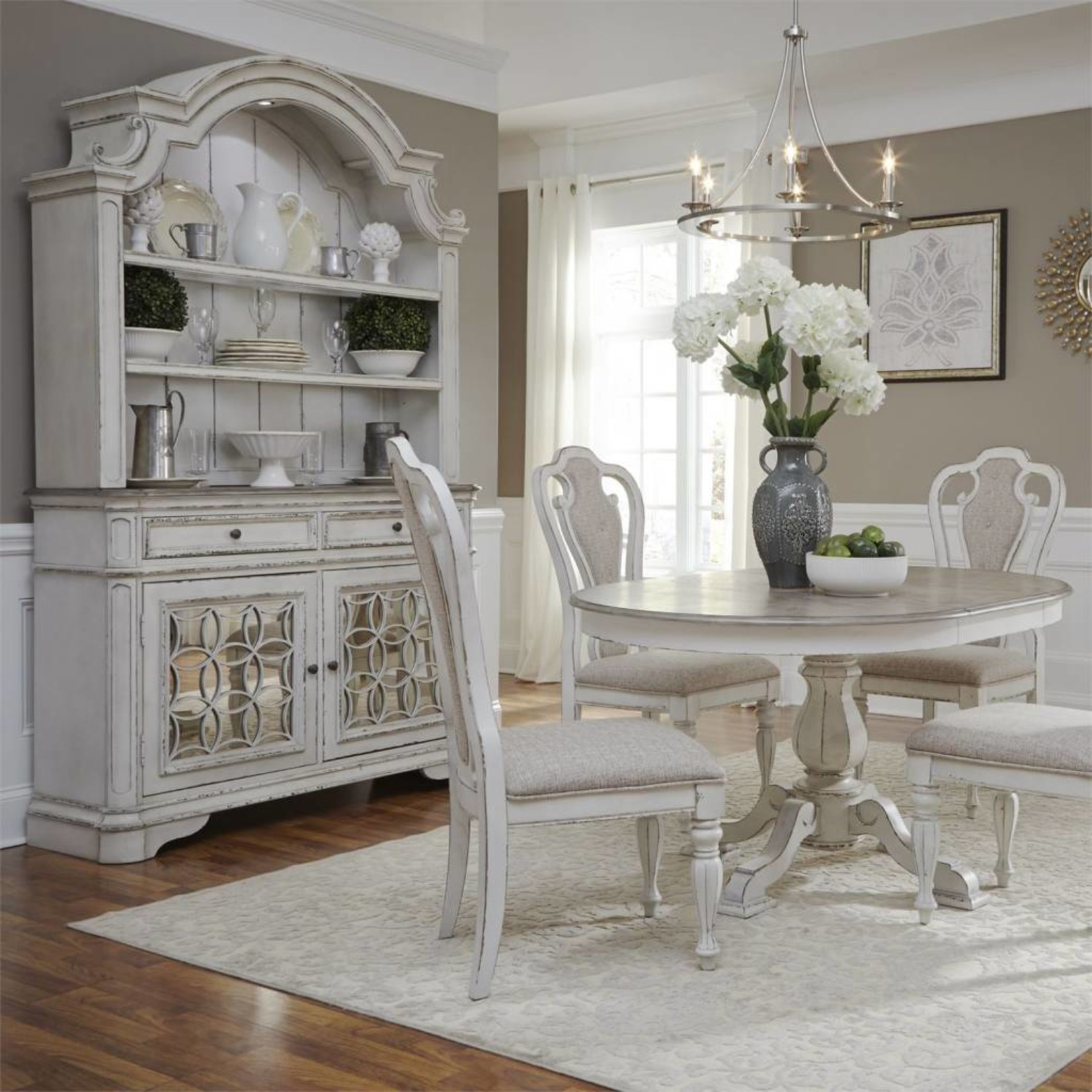 Magnolia Manor Hutch & Buffet