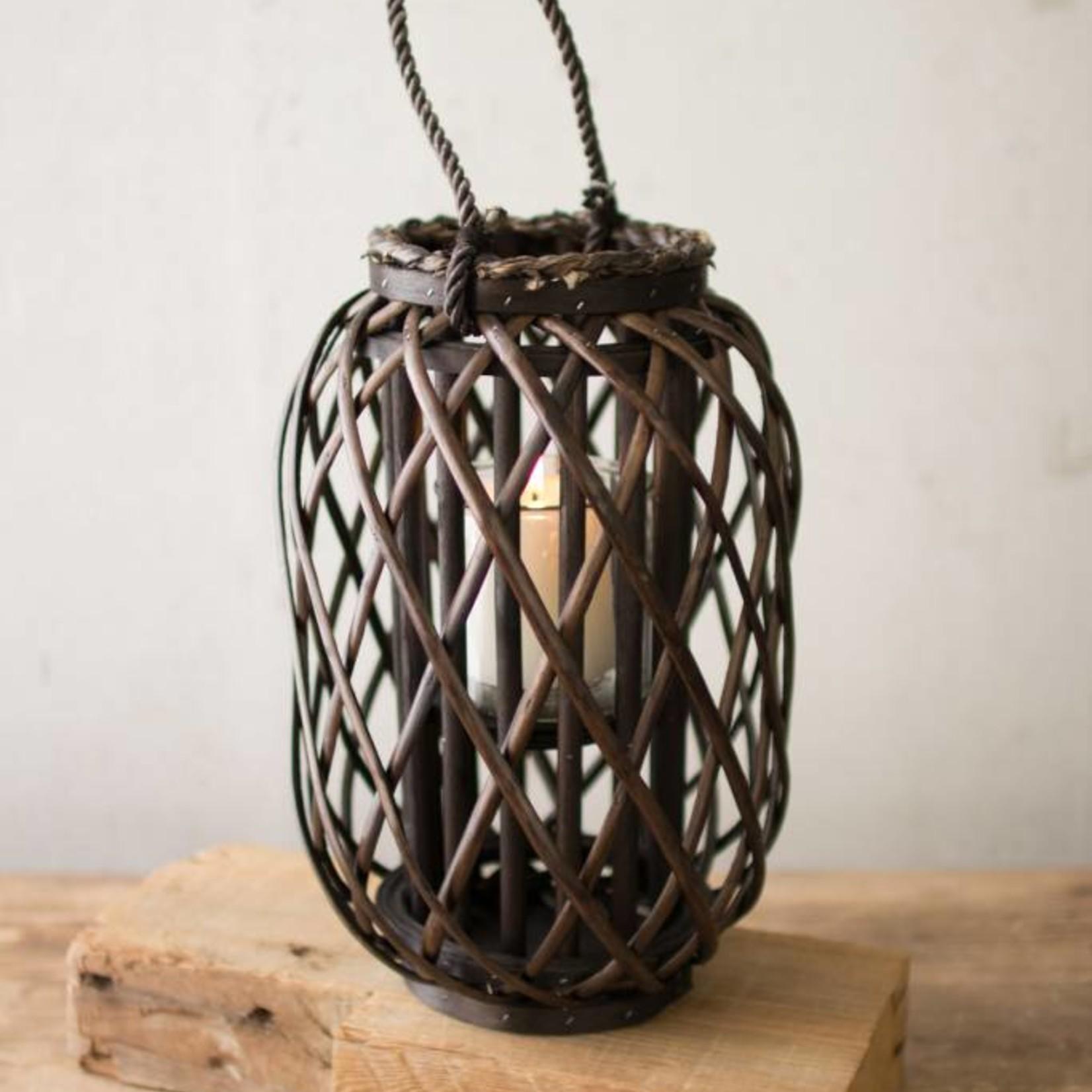 Dark Brown Willow Lantern CLUX1075