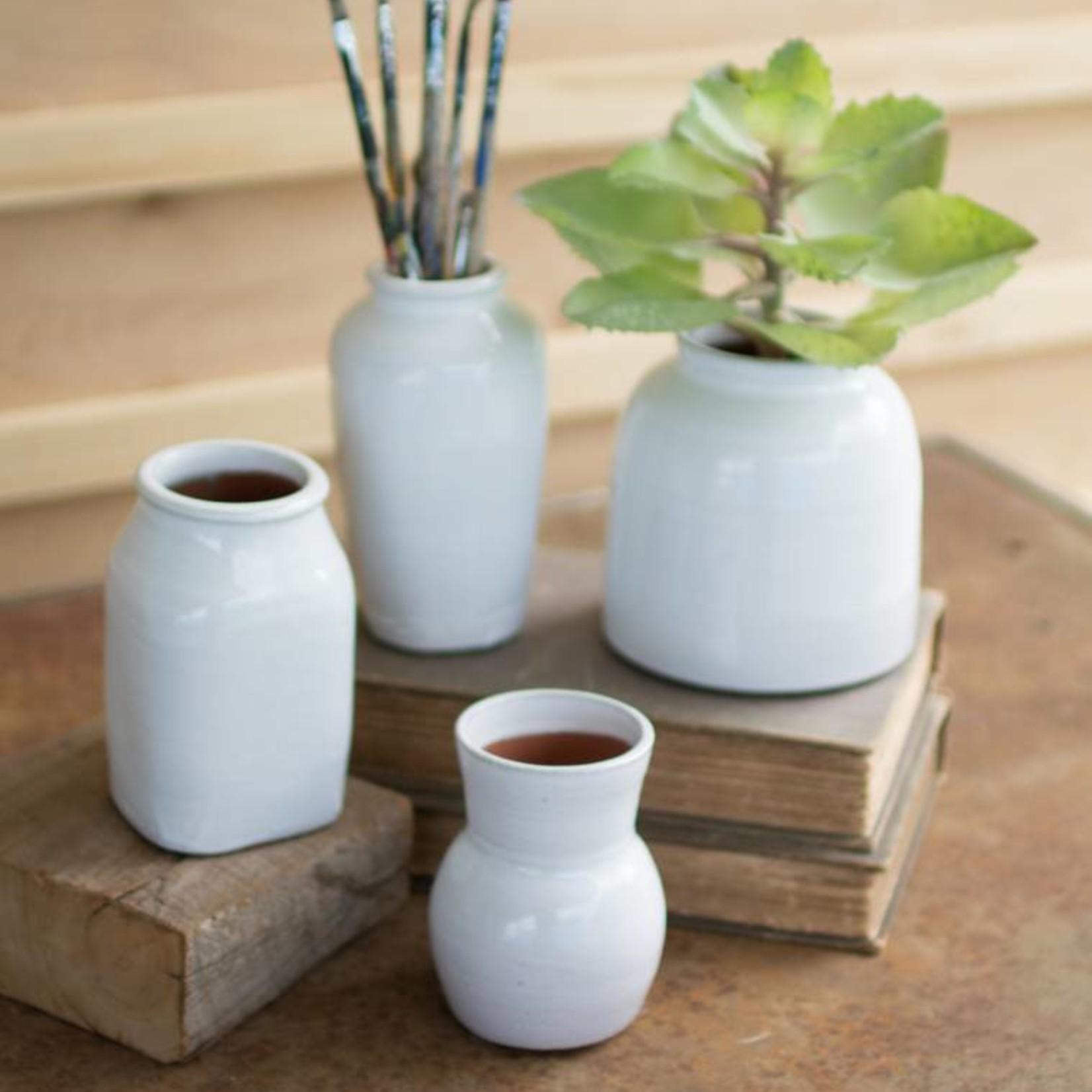 Assorted Matte White Ceramic Vases CPH3295