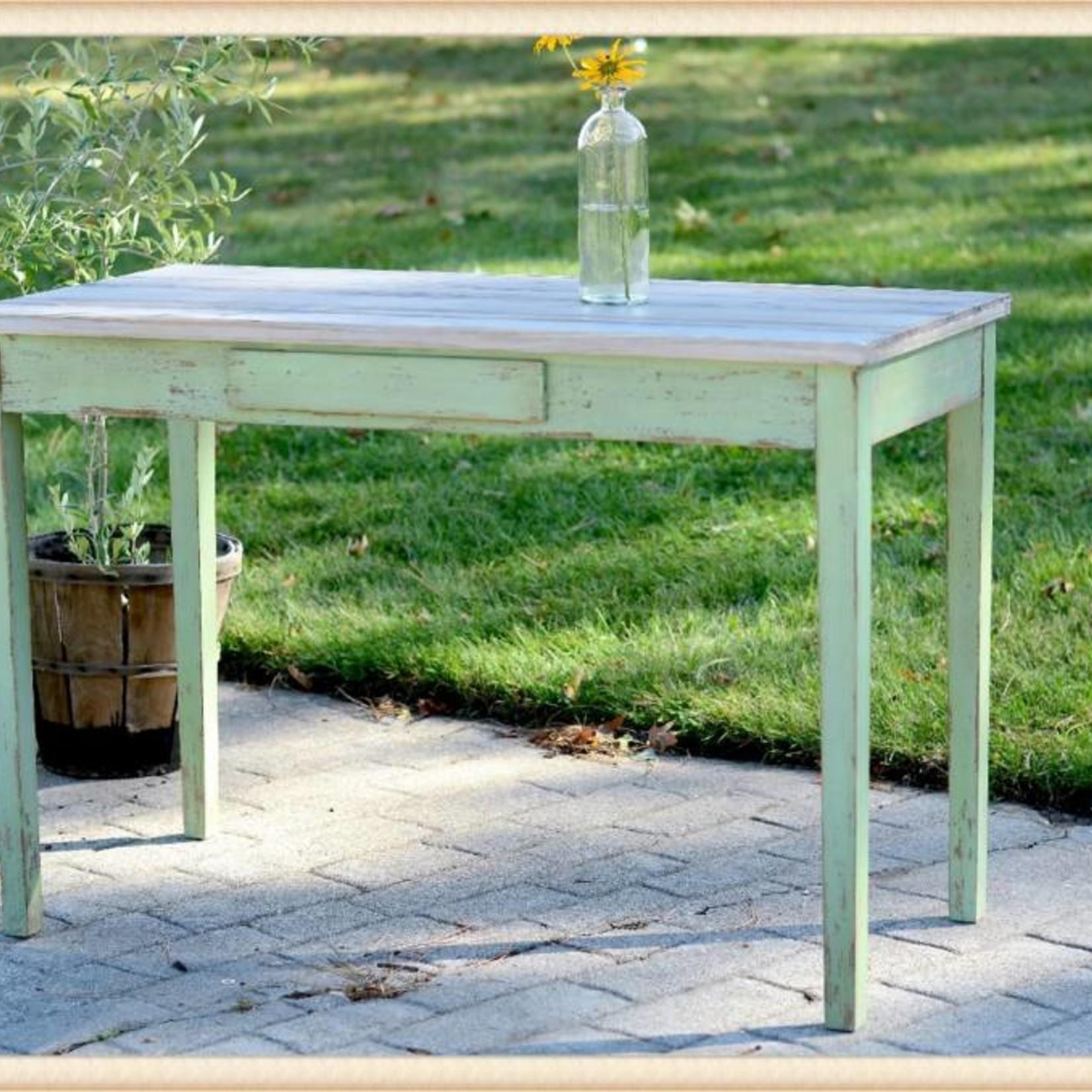 Distressed Green Desk 18CH015