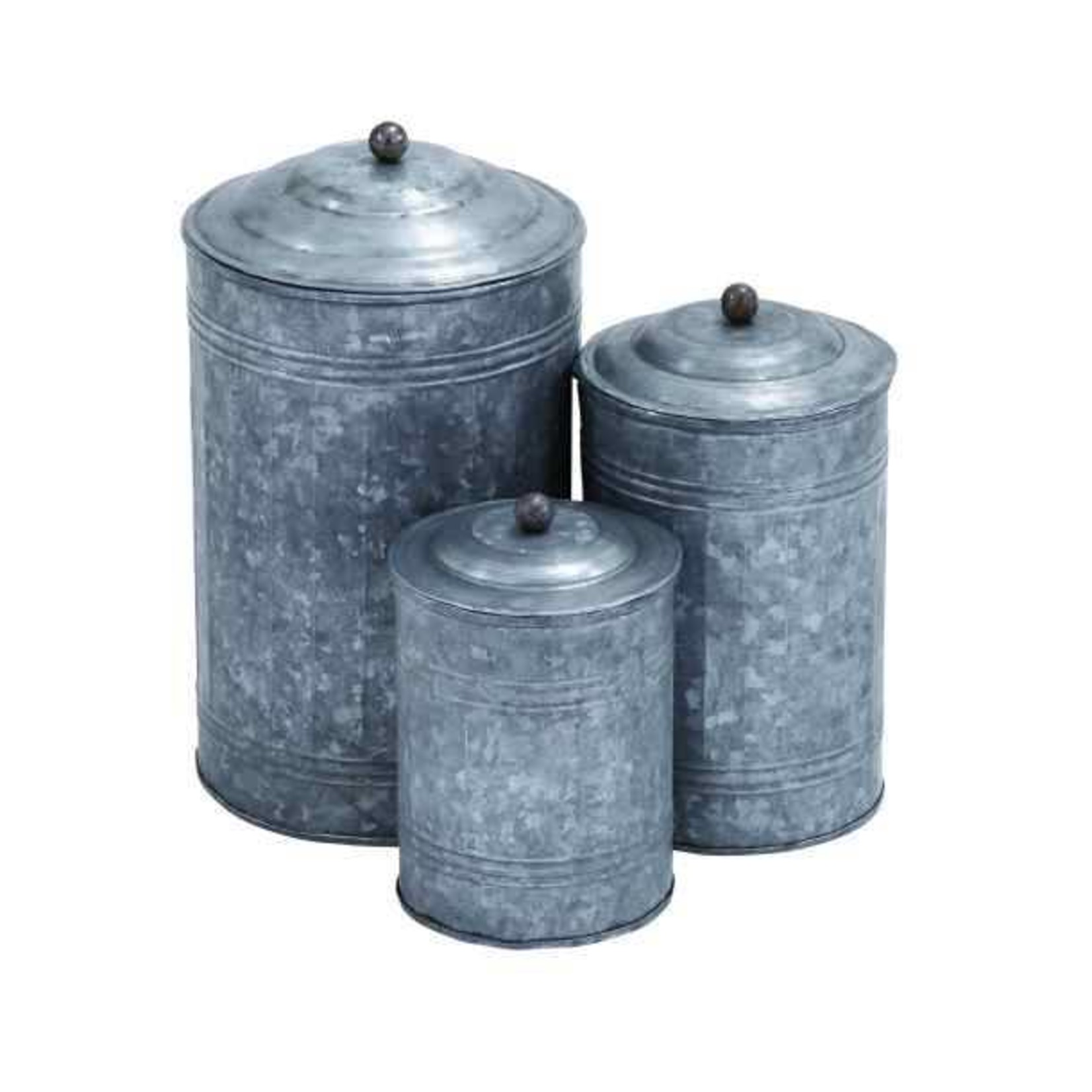Large Galvanized Canister 38168