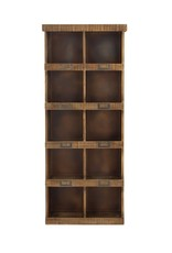 Wood Wall Shelf with Cubbies