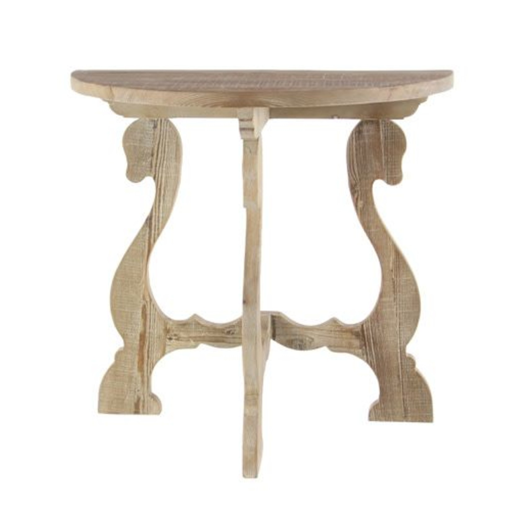 Carved Wood End Table 46335