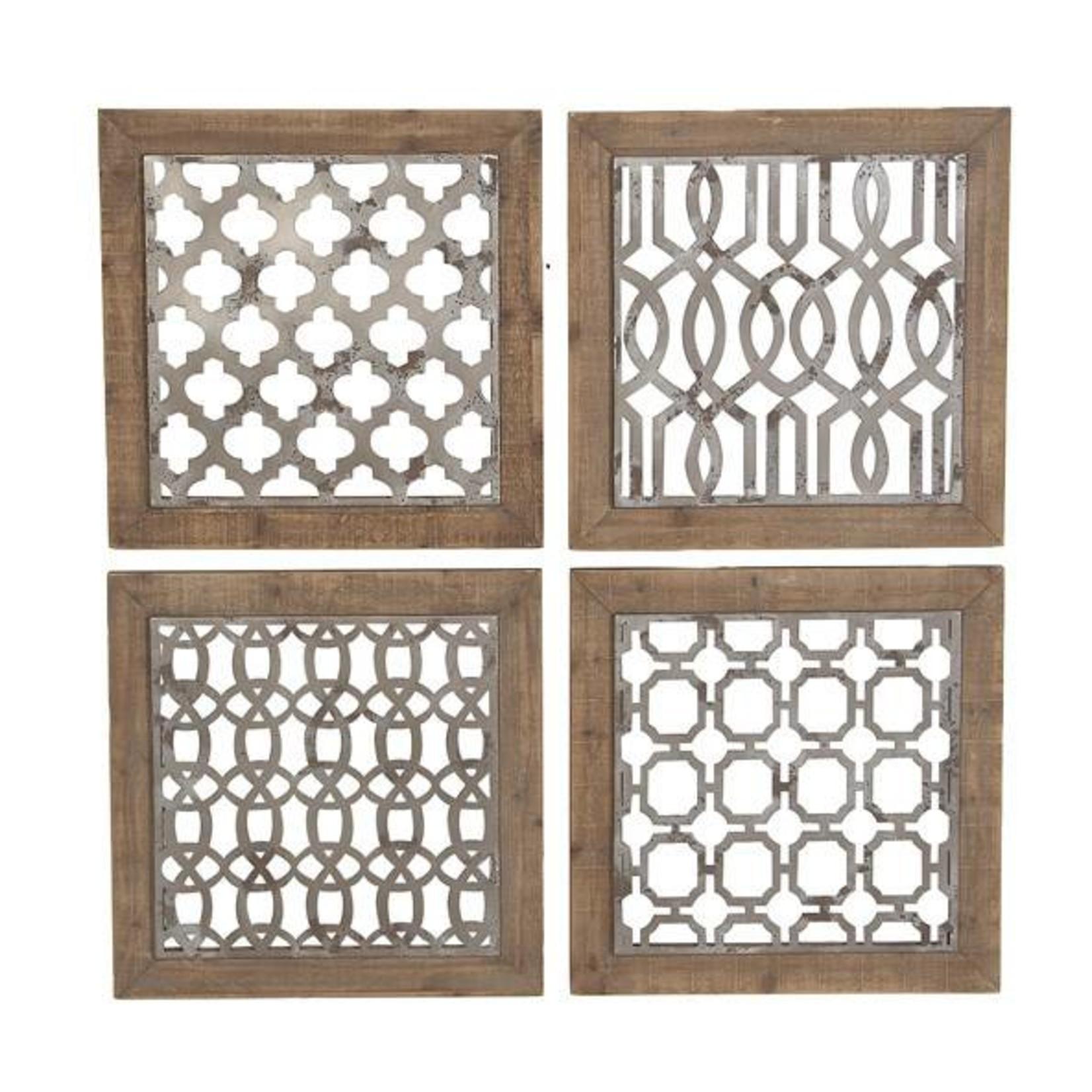 Wood and Metal Wall Decor 60230