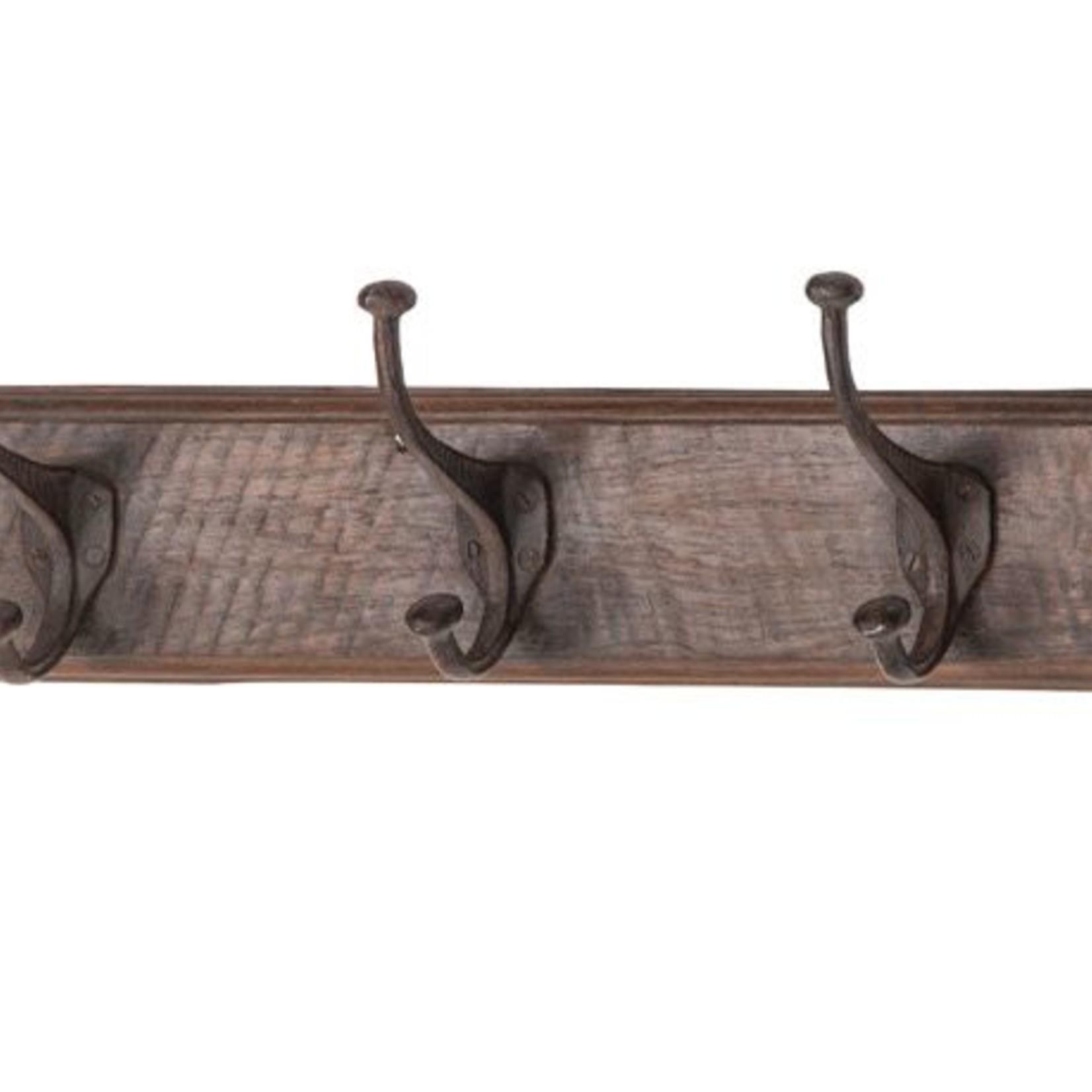 Wood with 3 Metal Hooks 88578