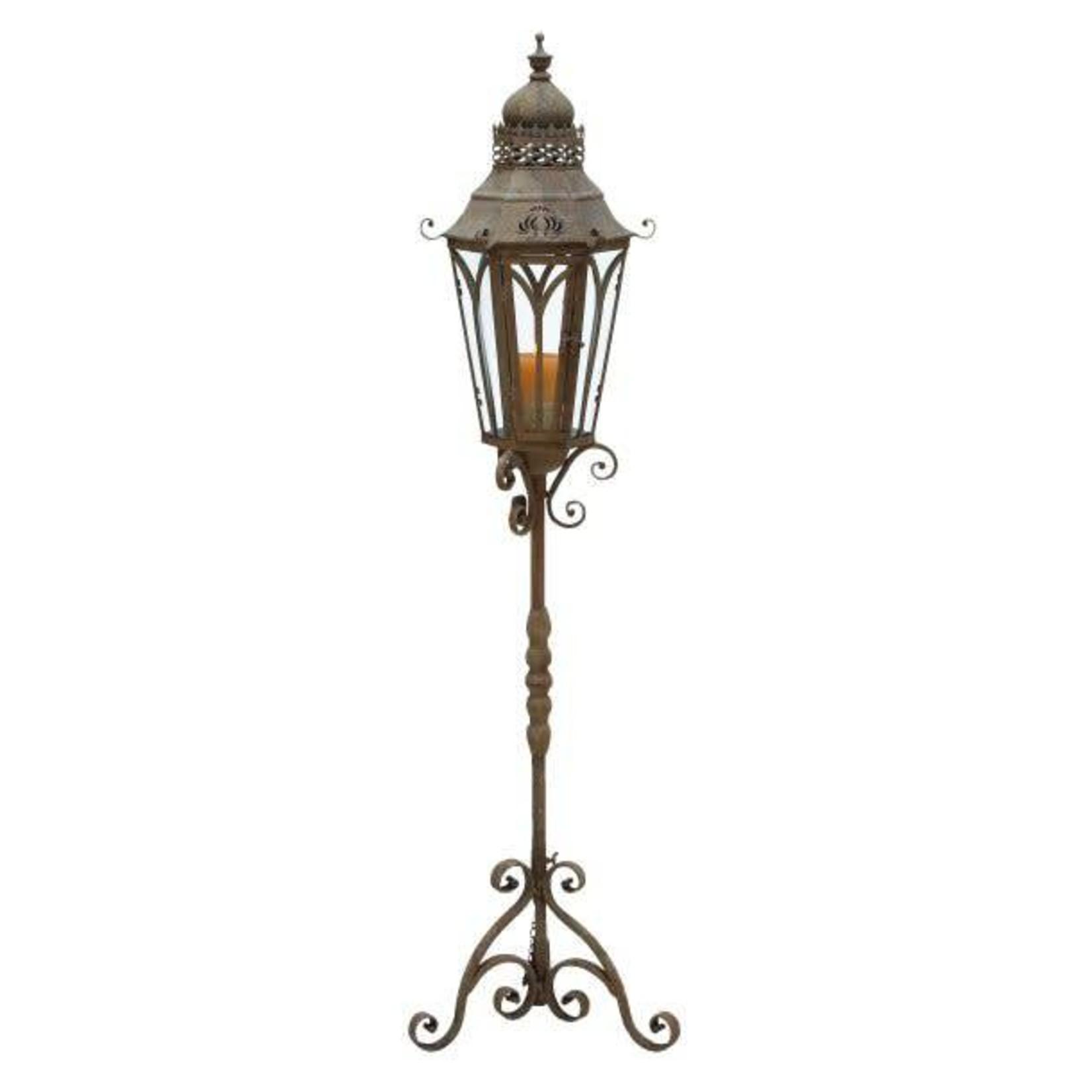 Metal Glass Lantern Stand 52946