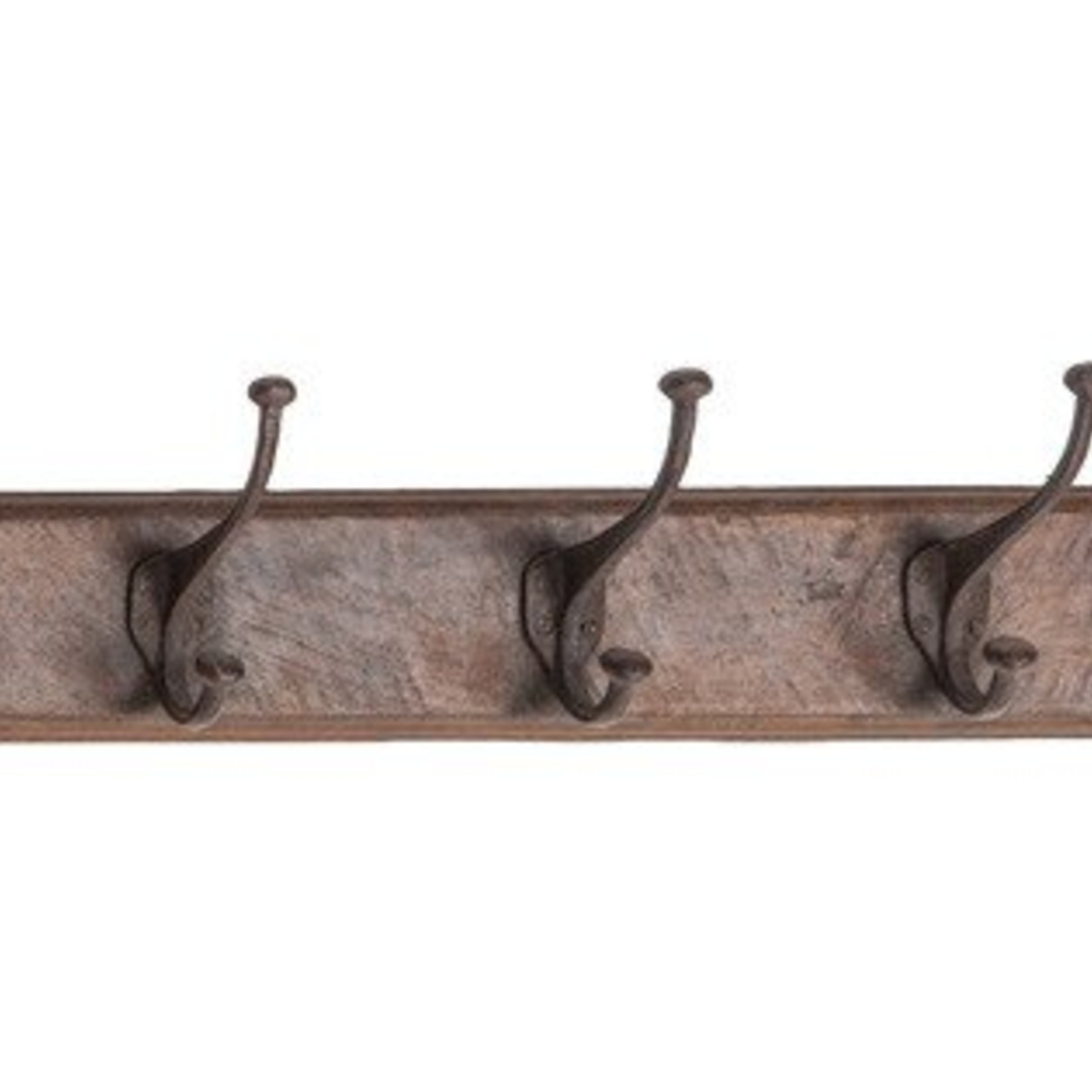 Wood with 5 Metal Hooks 88579