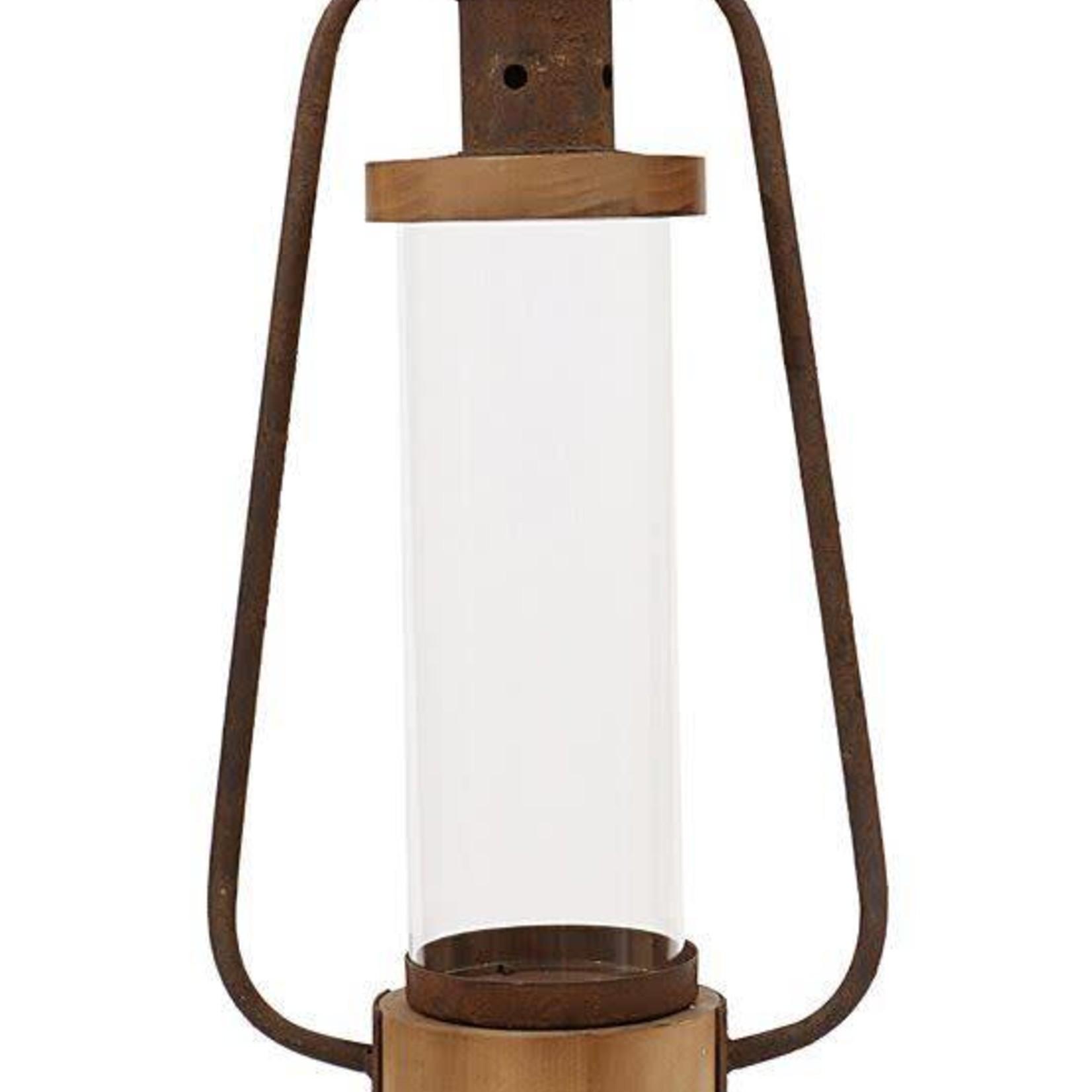 Metal & Wood Lantern XC4789