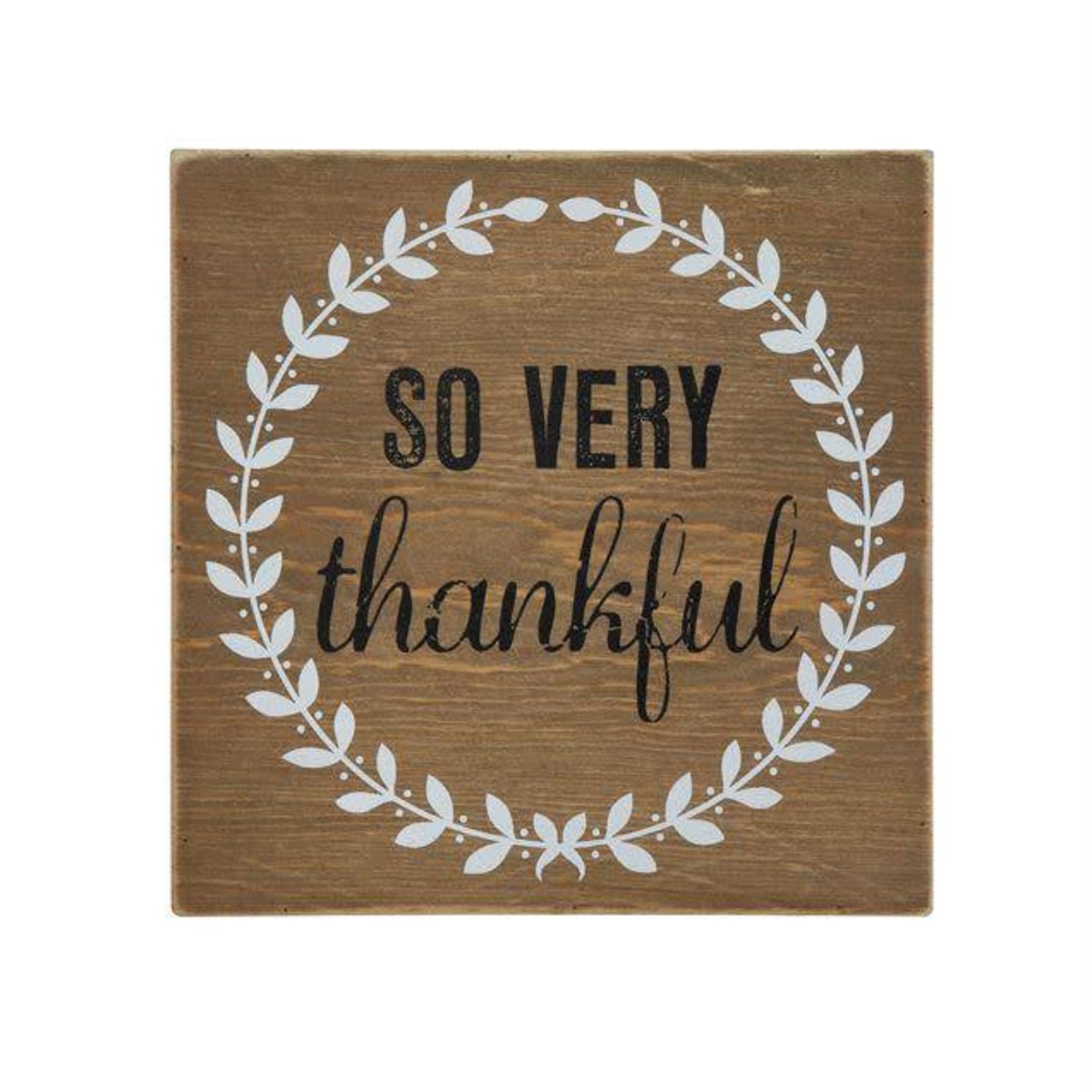 """So Very Thankful"" Block Decor CF2852"