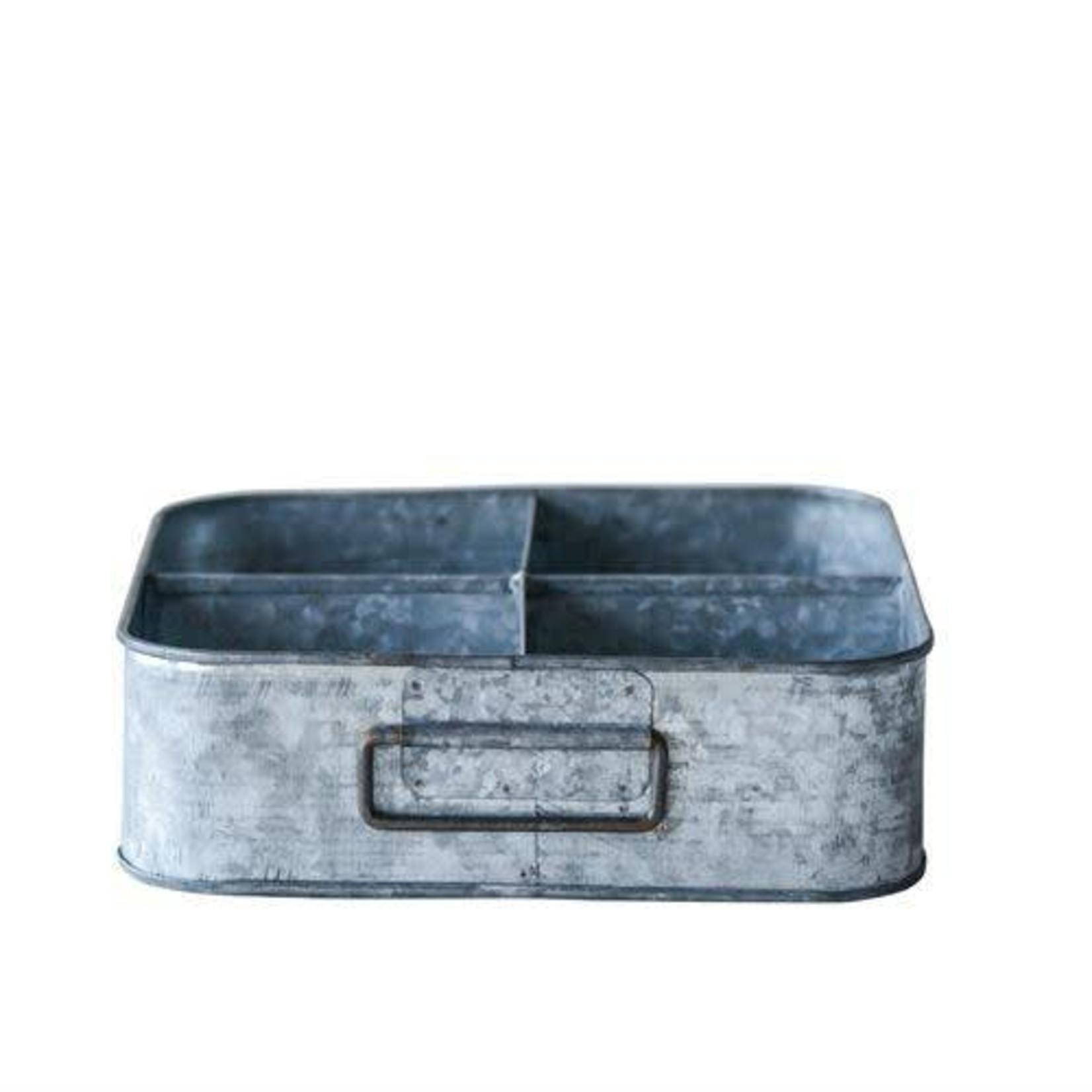 Galvanized Metal Container w/ Handles XM1967