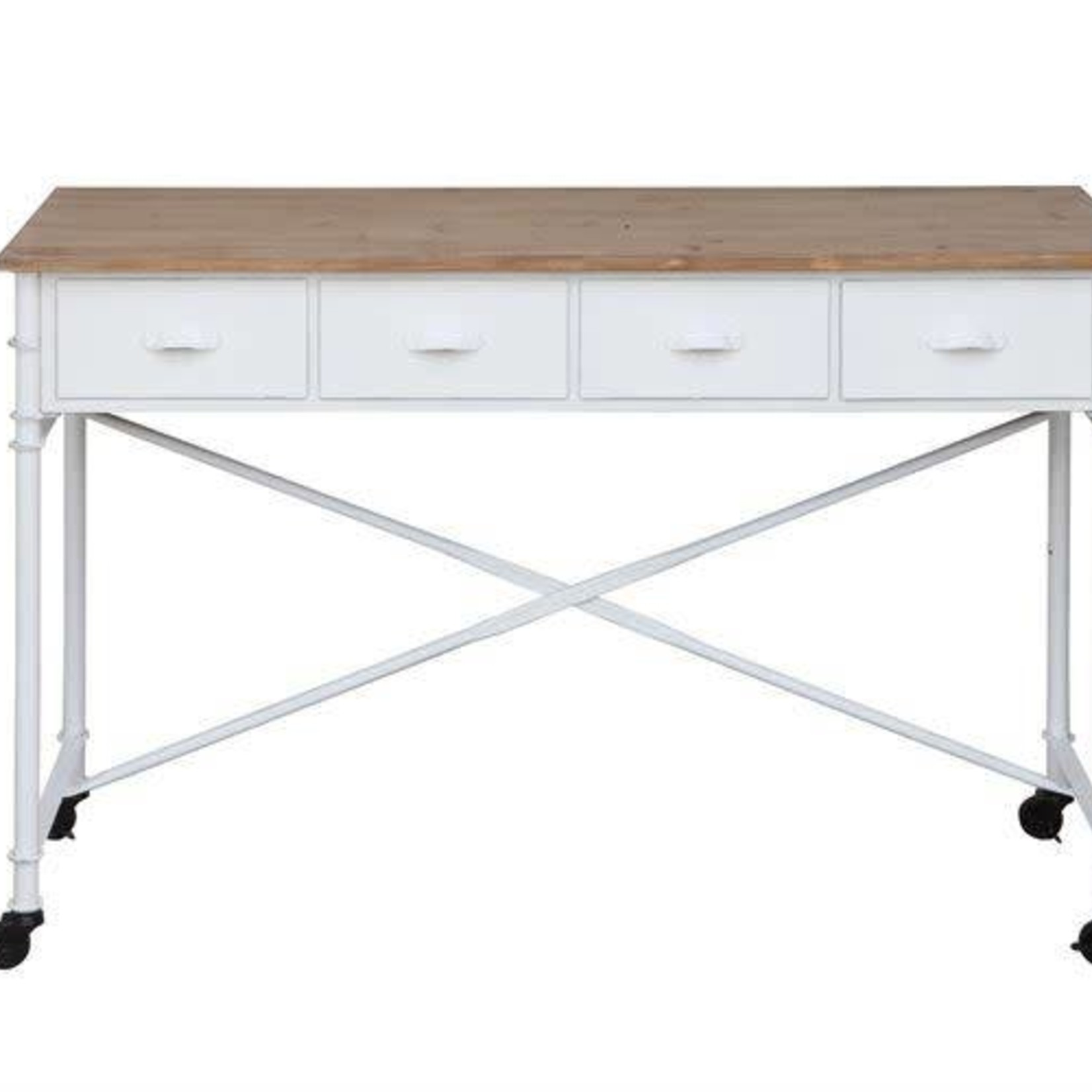 Table w/ 4 Drawers on Casters DF0275