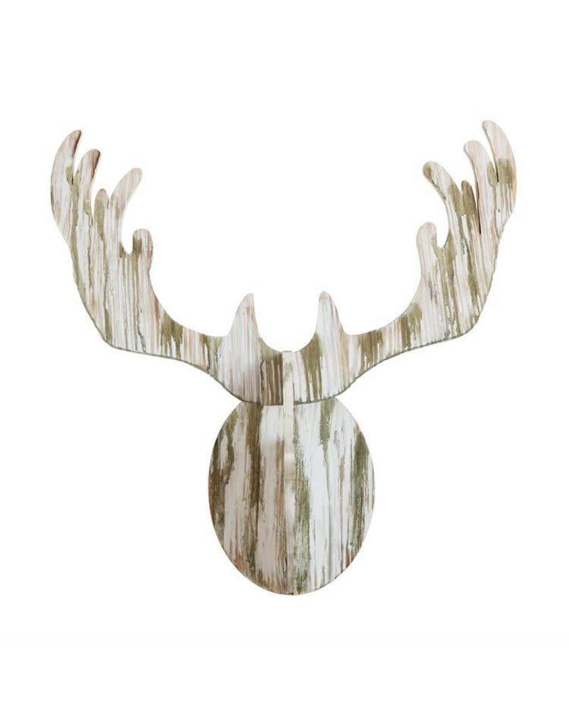 Wood Deer Wall Decor XM2150
