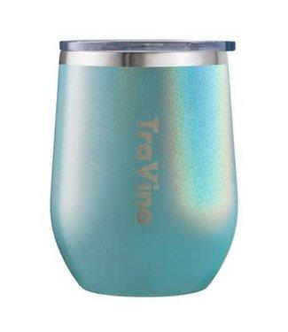 TraVino STEMLESS -Glitter- Aqua Mist