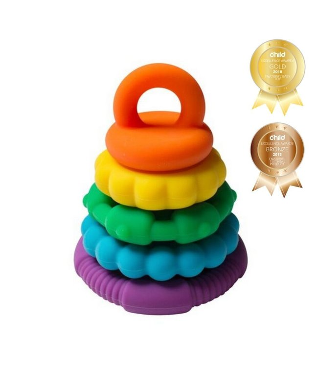 RAINBOW STACKER AND TEETHING TOY
