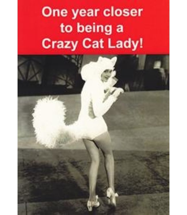 YEAR CLOSER ...CRAZY CAT LADY - CARD