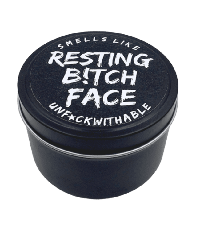 EXPLICIT BODY CARE RESTING B!TCHFACE - CANDLE TIN