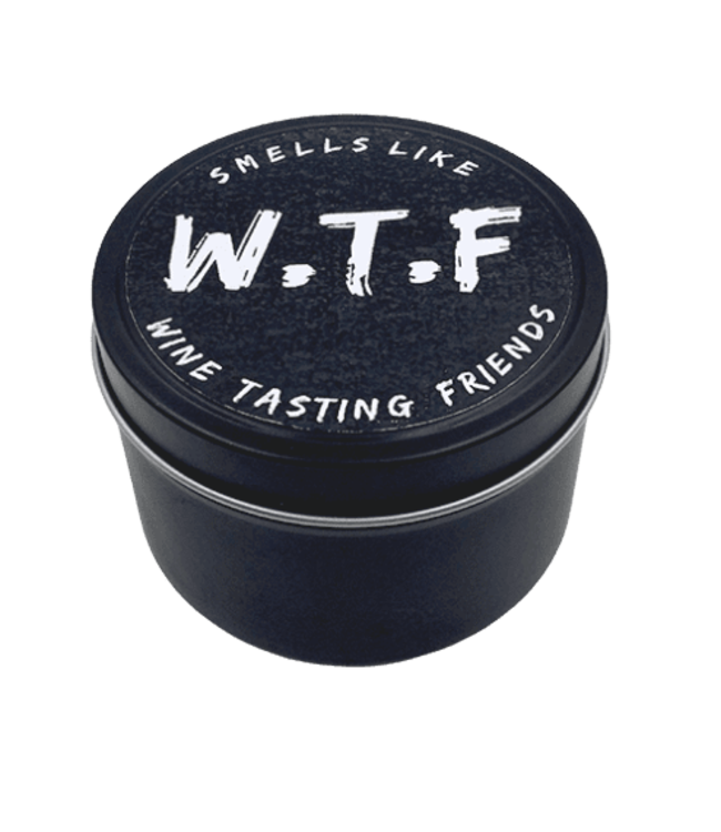EXPLICIT BODY CARE WTF-WINE TASTING FRIENDS - CANDLE TIN