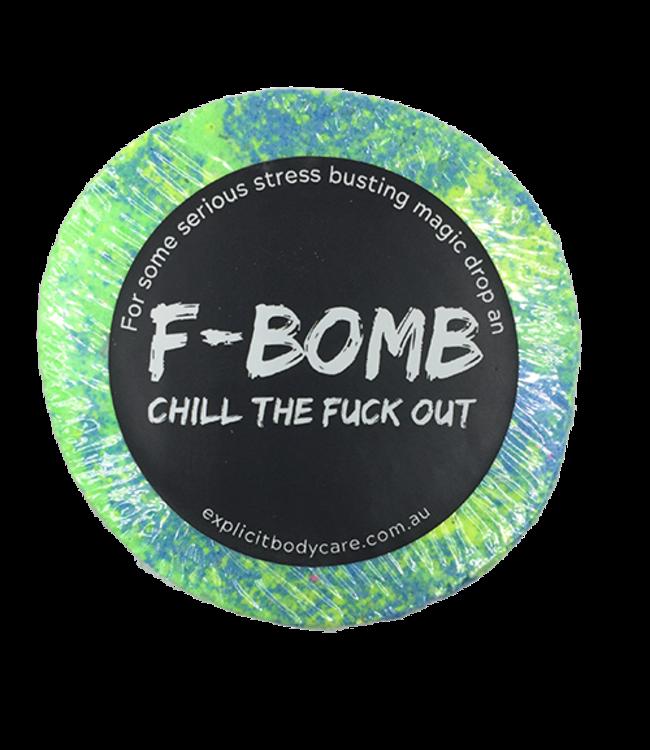EXPLICIT BODY CARE F BOMB , CHILL THE F*CK OUT! - BATH BOMB - COCONUT + LIME