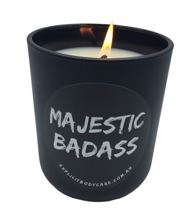 EXPLICIT BODY CARE MAJESTIC BAD ASS - GLASS CANDLE