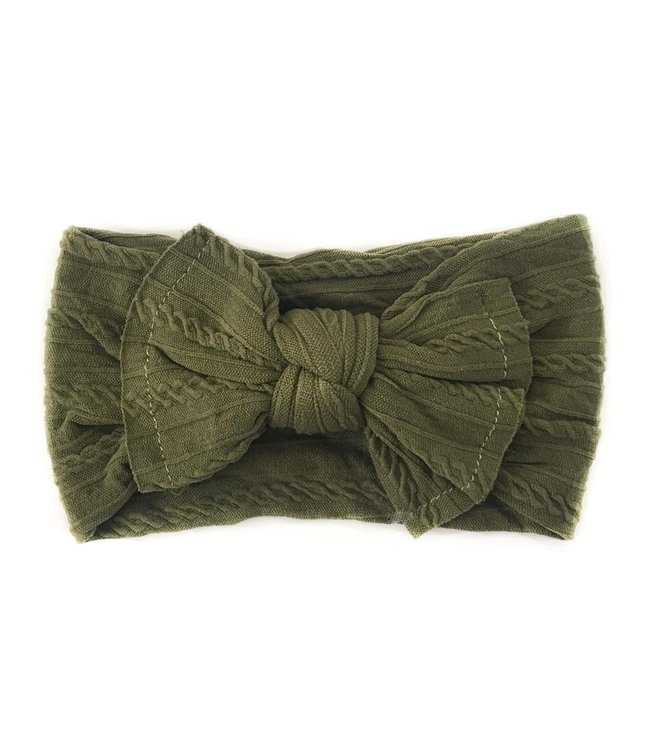 Sister Bows WILLOW HEADBAND - OLIVE