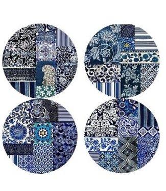 Anna Chandler Designs INDIGO - DESSERT PLATE SET