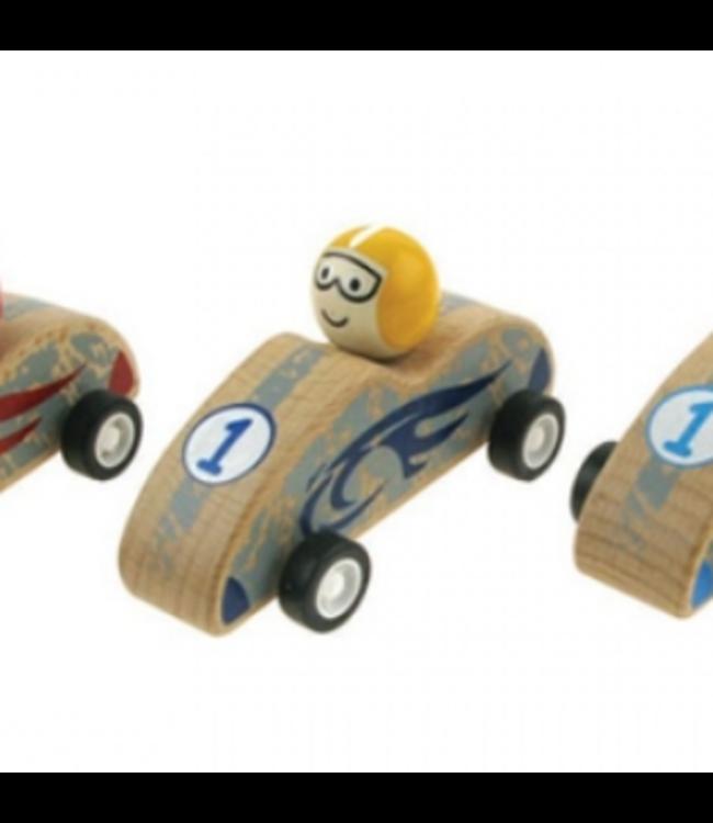 PULLBACK RACING CAR - YELLOW