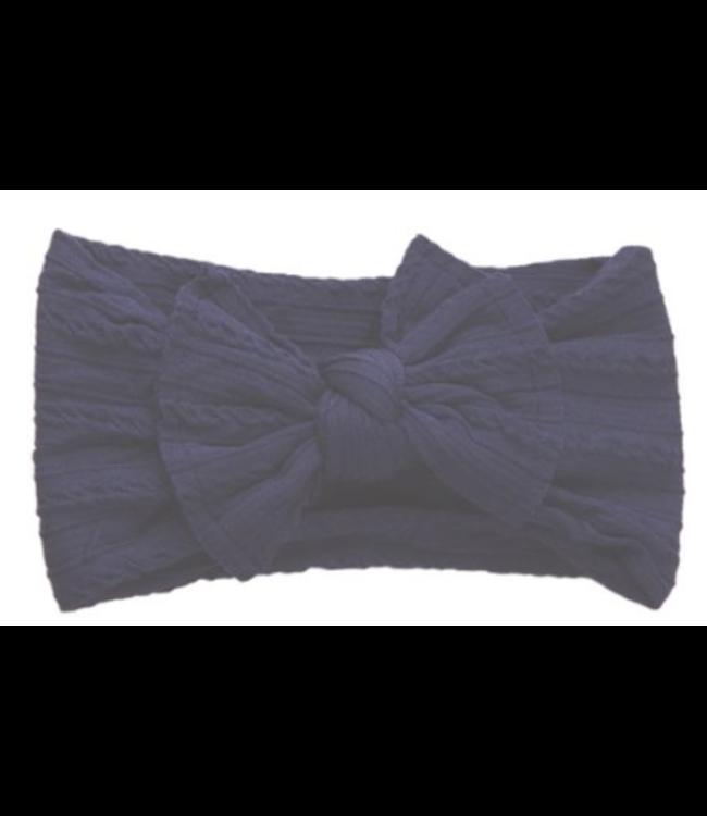 Sister Bows WILLOW HEADBAND - NAVY BLUE