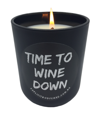 EXPLICIT BODY CARE TIME TO WINE DOWN - GLASS CANDLE