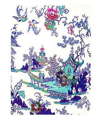 Anna Chandler Designs WILLOW PATTERN BLUE - TEATOWEL