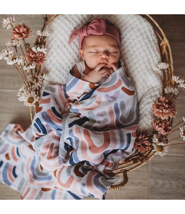SNUGGLE HUNNY KIDS RAINBOW BABY - ORGANIC MUSLIN WRAP