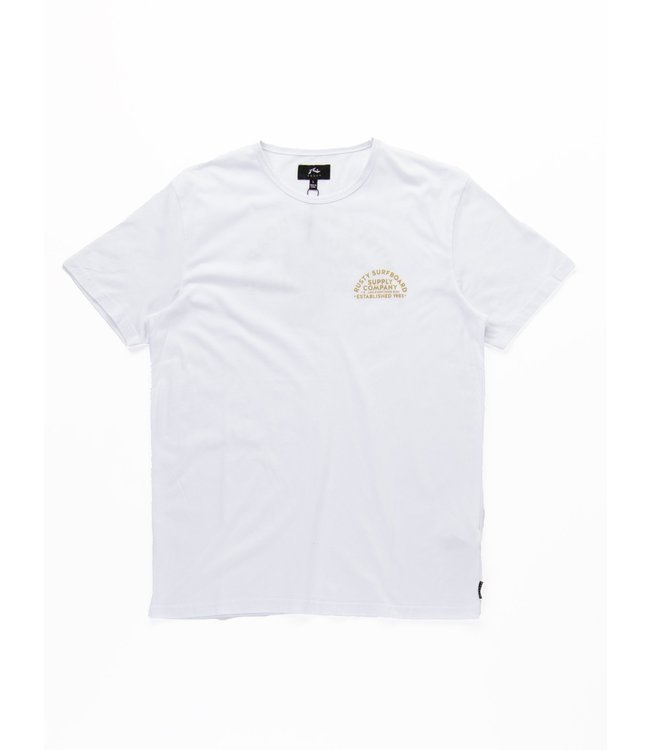 RUSTY GOLDEN ARCH S/S TEE - WHITE
