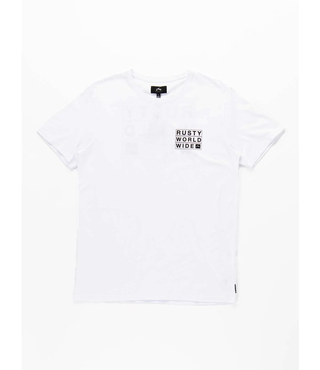 RUSTY TOP LOADER S/S TEE - WHITE
