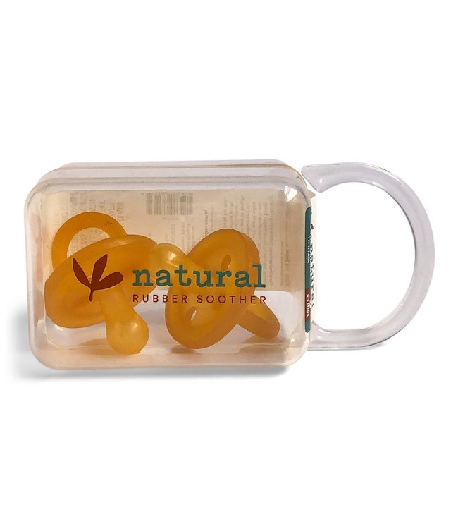 NATURAL RUBBER SOOTHER - 2 PACK 0-3 MONTHS