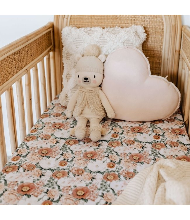 SNUGGLE HUNNY KIDS FLORENCE - FITTED COT SHEET