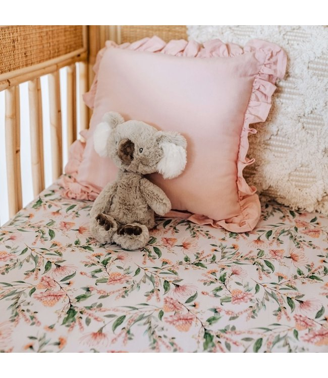 SNUGGLE HUNNY KIDS WATTLE - FITTED COT SHEET